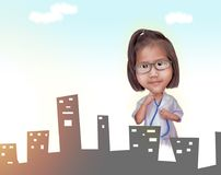 Conceito da criança do doutor Fotos de Stock
