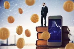Conceito da criptografia e do mercado imagem de stock royalty free