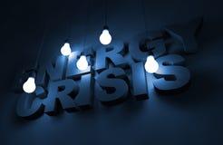 Conceito da crise de energia ilustração stock