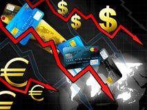 Conceito da crise do dinheiro do mundo Ilustração Royalty Free