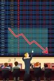 Conceito da crise económica Imagens de Stock Royalty Free