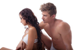 Conceito da crise sexual - par novo virado Fotografia de Stock