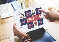 Conceito da cultura da situação dos hábitos do modo de vida do estilo de vida fotos de stock