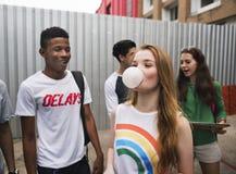 Conceito da cultura de juventude da atividade da unidade da amizade dos povos foto de stock royalty free