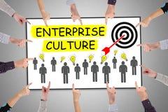 Conceito da cultura da empresa em um whiteboard fotografia de stock