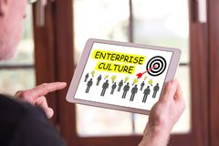 Conceito da cultura da empresa em uma tabuleta imagens de stock royalty free
