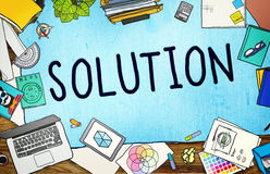 Conceito da decisão da estratégia do progresso da inovação da solução ilustração royalty free