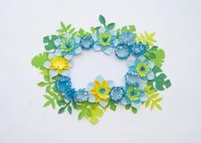 Conceito da decoração da flor do ofício de papel Fotografia de Stock Royalty Free