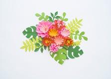 Conceito da decoração da flor do ofício de papel Imagens de Stock Royalty Free