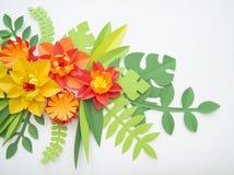 Conceito da decoração da flor do ofício de papel Imagem de Stock Royalty Free