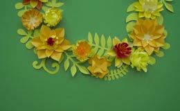 Conceito da decoração da flor do ofício de papel Imagens de Stock