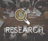 Conceito da descoberta do conhecimento dos resultados de pesquisa imagem de stock royalty free