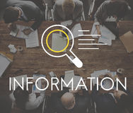 Conceito da descoberta do conhecimento dos resultados de pesquisa da informação imagem de stock