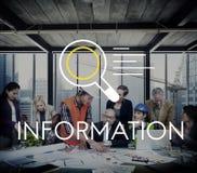 Conceito da descoberta do conhecimento dos resultados de pesquisa da informação foto de stock royalty free