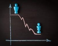 Conceito da diferença de salário e da igualdade de gênero Imagens de Stock Royalty Free