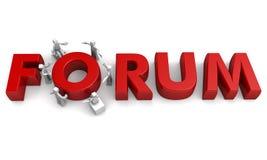Conceito da discussão do fórum ilustração royalty free