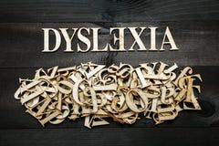 Conceito da dislexia Fotografia de Stock