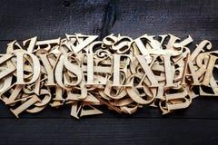 Conceito da dislexia Fotografia de Stock Royalty Free