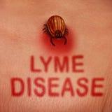 Conceito da doença de Lyme ilustração stock