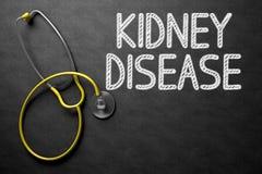 Conceito da doença renal no quadro ilustração 3D Fotos de Stock