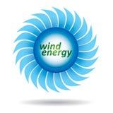 Conceito da ecologia - energia de vento Imagens de Stock Royalty Free