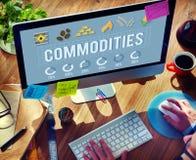 Conceito da economia de distribuição da procura das mercadorias imagens de stock royalty free