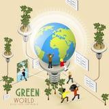 Conceito da economia de energia Imagem de Stock Royalty Free