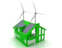 Conceito da economia de energia da casa Foto de Stock Royalty Free