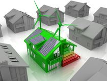 Conceito da economia de energia da casa Fotografia de Stock Royalty Free