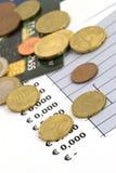 Conceito da economia e da finança - dof raso Fotos de Stock Royalty Free
