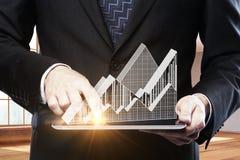 Conceito da economia e de renda imagem de stock royalty free