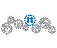 Conceito da economia mundial do MI do OPEC do relacionamento Imagem de Stock Royalty Free