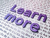 Conceito da educação: Aprenda mais no alfabeto Imagens de Stock Royalty Free
