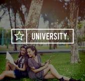 Conceito da educação da comunidade da faculdade da academia da universidade fotos de stock royalty free
