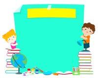 Conceito da educação do molde para anunciar o cartaz Imagem de Stock