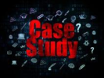 Conceito da educação: Estudo de caso em Digitas Imagens de Stock