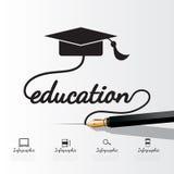 Conceito da educação infographic Fotografia de Stock Royalty Free