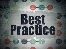Conceito da educação: Melhor prática no papel de Digitas Imagens de Stock Royalty Free