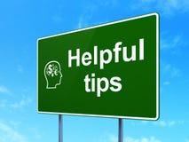 Conceito da educação: Pontas e cabeça úteis com Imagens de Stock Royalty Free