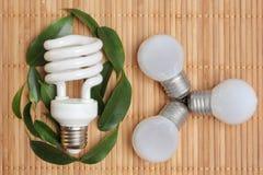 Conceito da energia de Eco Fotografia de Stock