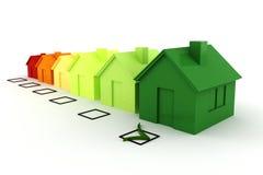 conceito da energia do verde da casa 3d Fotografia de Stock Royalty Free