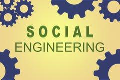 Conceito da engenharia social ilustração stock