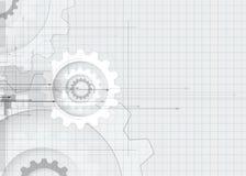 Conceito da engrenagem para a empresa & o desenvolvimento da nova tecnologia Foto de Stock