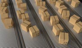 Conceito da entrega do pacote 3D rendeu a ilustração ilustração stock