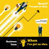 Conceito da equipe 3 do negócio da série da ideia do negócio Foto de Stock