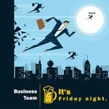 Conceito da equipe 4 do negócio da série da ideia do negócio Imagem de Stock Royalty Free