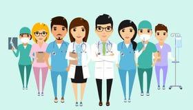 Conceito da equipe do pessoal da clínica Imagens de Stock