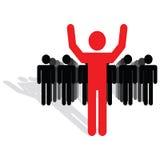 Conceito da equipe e do líder Imagens de Stock Royalty Free
