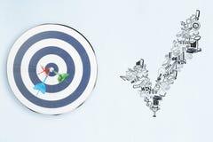 Conceito da escolha de objetivos e do sucesso Fotografia de Stock Royalty Free