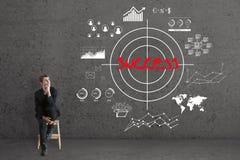 Conceito da escolha de objetivos e do sucesso Foto de Stock